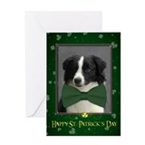 Border Collie St. Patrick's Card