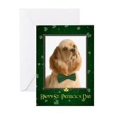 Cocker Spaniel St. Patrick's Card