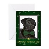Black Lab St. Patrick's Card