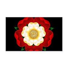 Tudor Rose Rectangle Car Magnet