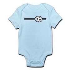 Soccer Ball And Stripes Infant Bodysuit