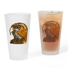Hawk Drinking Glass