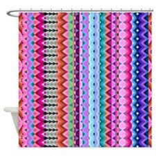 Mix #190 Aztec - Detail, Shower Curtain