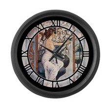 Vintage Music Art Nouveau Tango Large Wall Clock