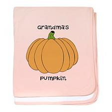 Grandmas pumpkin/ baby blanket