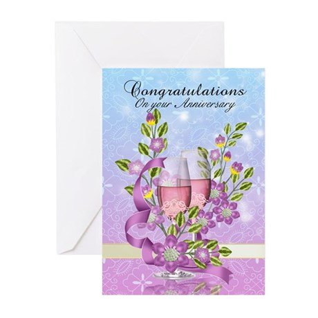 Wedding Anniversary Greeting Card (Pk of 10)