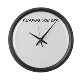 Cute Flip off Large Wall Clock