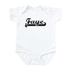 Black jersey: Faye Infant Bodysuit