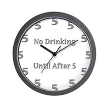Cute Drinking Wall Clock