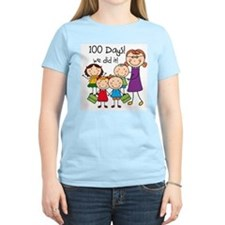 Kids and Female Teacher 100 Days T-Shirt