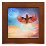 Angel in the Clouds Framed Tile