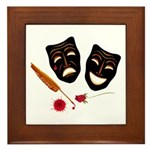 Theatre Masks Framed Tile