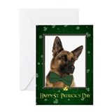 German Shepherd St. Patricks Card