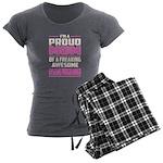 Puck Podcast Logo Women's V-Neck Dark T-Shirt