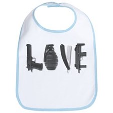 Weapons Of Love Funny T-Shirt Bib