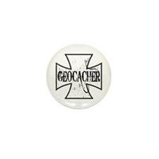 Geocacher Iron Cross Mini Button (10 pack)