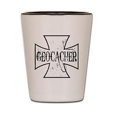Geocacher Iron Cross Shot Glass