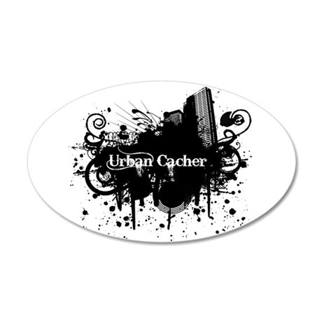 Urban Cacher 35x21 Oval Wall Decal