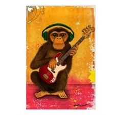 Funky Monkey Bass Player Postcards (Package of 8)
