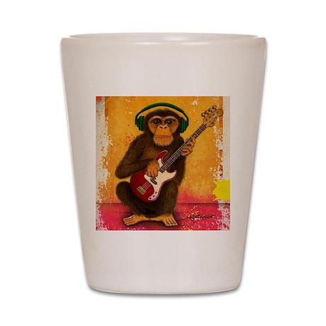 Funky Monkey Bass Player Shot Glass