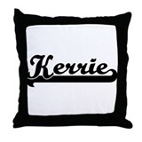 Black jersey: Kerrie Throw Pillow