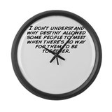 No people Large Wall Clock