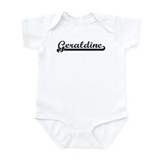 Black jersey: Geraldine Infant Bodysuit