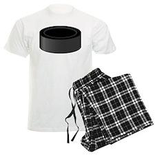 Black Hockey Puck Pajamas