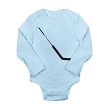 Hockey Goalie Stick Long Sleeve Infant Bodysuit