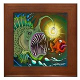 Angler Fish Framed Tile