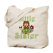 Little Sister Fluffy Pup 2 Tote Bag