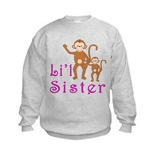 Little Sister Cute Monkeys 2 Sweatshirt