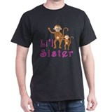 Little Sister Cute Monkeys 2 T-Shirt