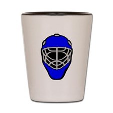 Blue Goalie Mask Shot Glass