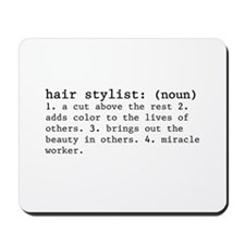 hair stylist definition Mousepad