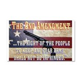 2nd Amendment Car Magnet 20 x 12