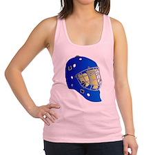 Blue Goalie Mask Racerback Tank Top