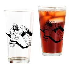 Ice Hockey Goalie Drinking Glass