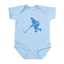 Blue Ice Hockey Player Onesie