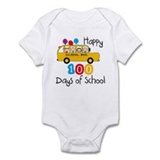 School Bus Celebrate 100 Days Infant Bodysuit