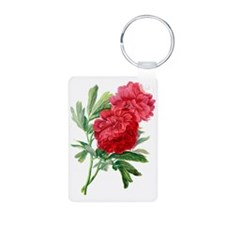 Red Peonies Drawn From Nature Aluminum Photo Keych