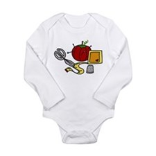 Sewing Supplies Long Sleeve Infant Bodysuit