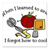 "When I Learned Square Car Magnet 3"" x 3"""