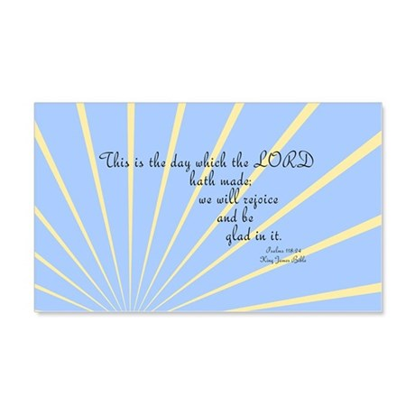 Psalms 118 24 Bible Verse 20x12 Wall Decal