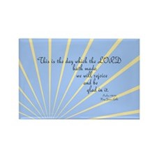 Psalms 118 24 Bible Verse Rectangle Magnet (100 pa