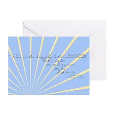Psalms 118 24 Bible Verse Greeting Cards (Pk of 10