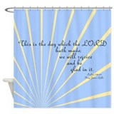 Psalms 118 24 Bible Verse Shower Curtain