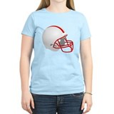 White and Red Football Helmet T-Shirt
