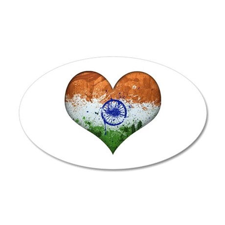 Indian Heart 20x12 Oval Wall Decal