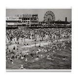 Coney Island &amp;quot;The Past&amp;quot; Tile Coaster